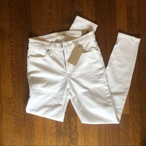 9' High-rise White Madewell Jeans